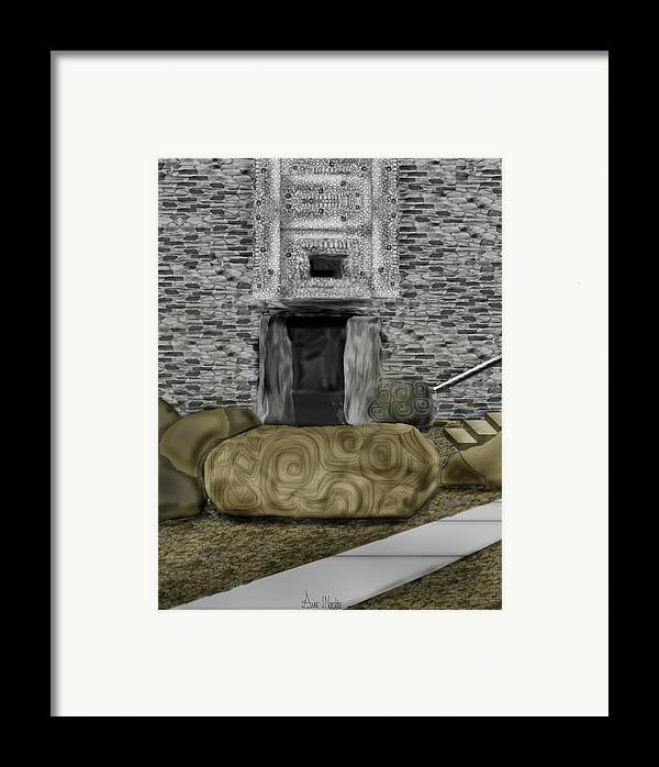 Newgrange Framed Print featuring the painting Newgrange Ireland by Anne Norskog