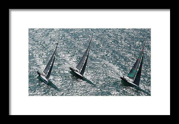Sloop Framed Print featuring the photograph Nice Day by Steven Lapkin