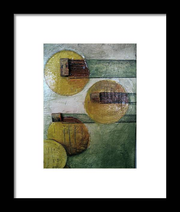 Contemporary Framed Print featuring the painting None by Jessica De la Torre