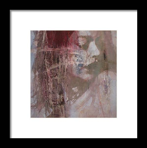 Female Framed Print featuring the mixed media Fading by Paul Lovering