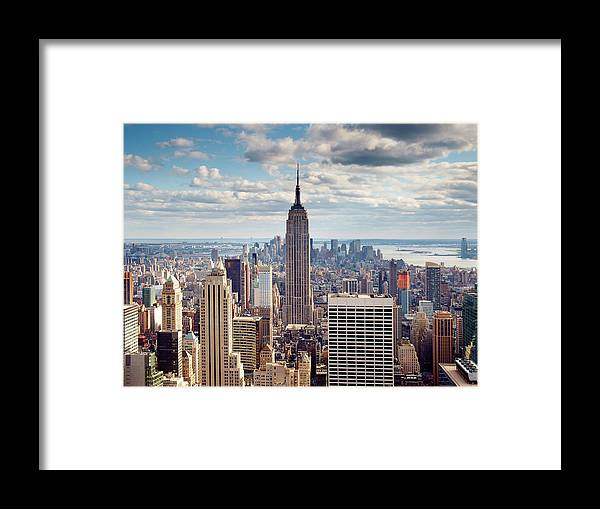 Ny Framed Print featuring the photograph NYC Empire by Nina Papiorek