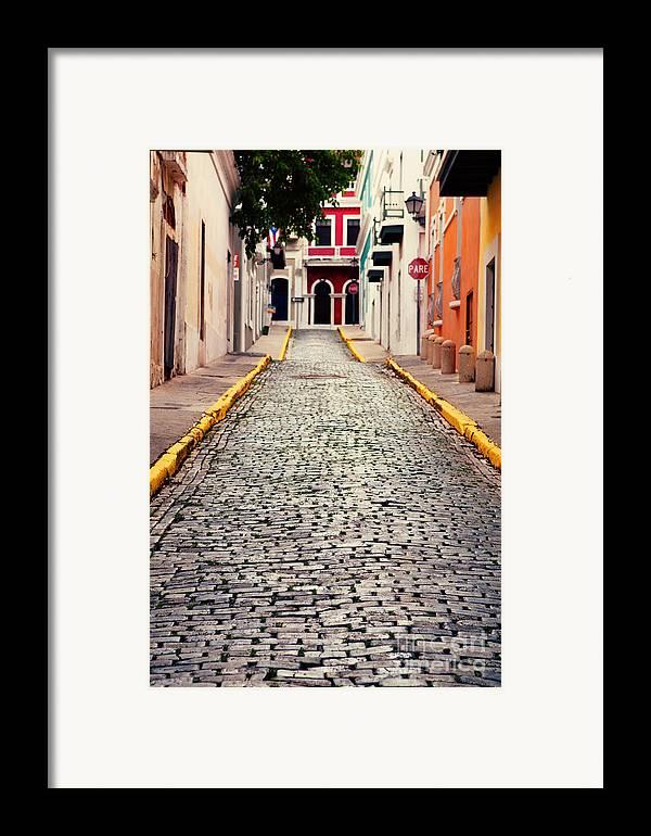 San Juan Framed Print featuring the photograph Old San Juan Puerto Rico by Kim Fearheiley