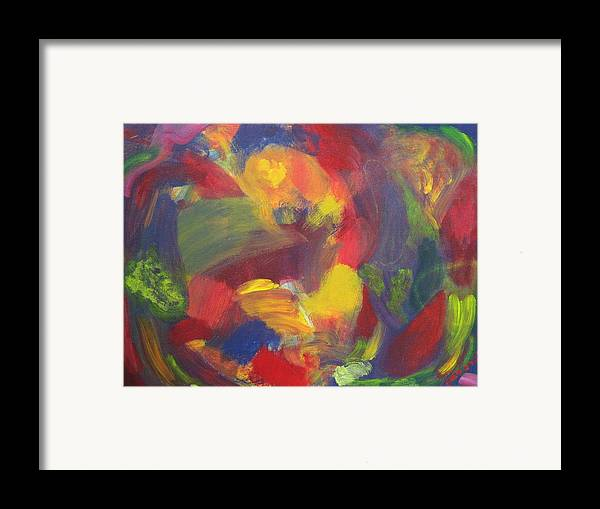 Abstract Framed Print featuring the painting On The Verge by Patricia Ortman