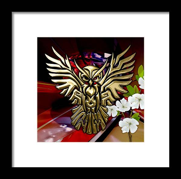 Owl Framed Print featuring the mixed media Owl In Flight Collection by Marvin Blaine