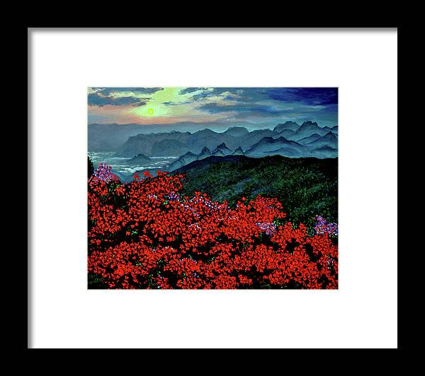 Paradise Framed Print featuring the painting Paradise by Stan Hamilton