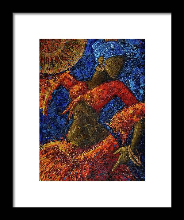 Dancer Framed Print featuring the painting Passion by Oscar Ortiz