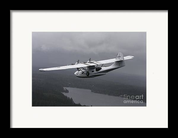 Transportation Framed Print featuring the photograph Pby Catalina Vintage Flying Boat by Daniel Karlsson