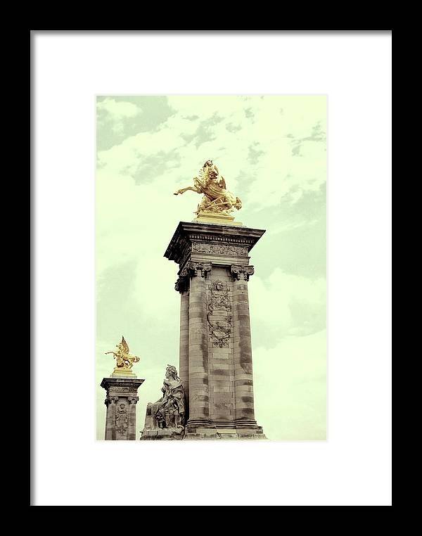Paris Framed Print featuring the photograph French Bridge Pillars by JAMART Photography