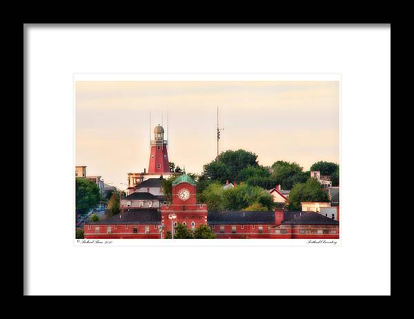 Architecture Framed Print featuring the photograph Portland Observatory by Richard Bean