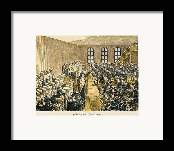 19th Century Framed Print featuring the photograph Quaker Meeting by Granger