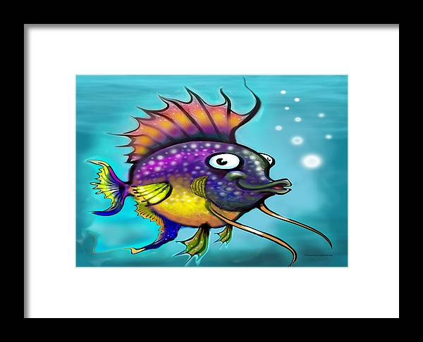 Rainbow Framed Print featuring the painting Rainbow Fish by Kevin Middleton