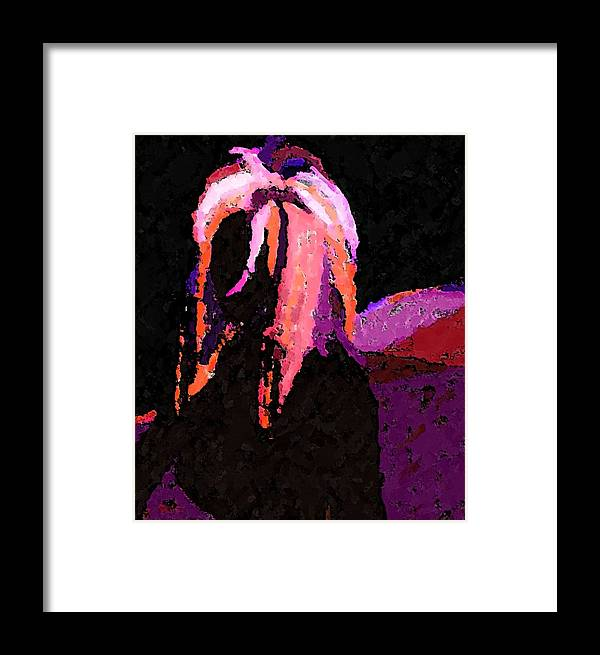 Framed Print featuring the photograph Raven by Margie Byrne