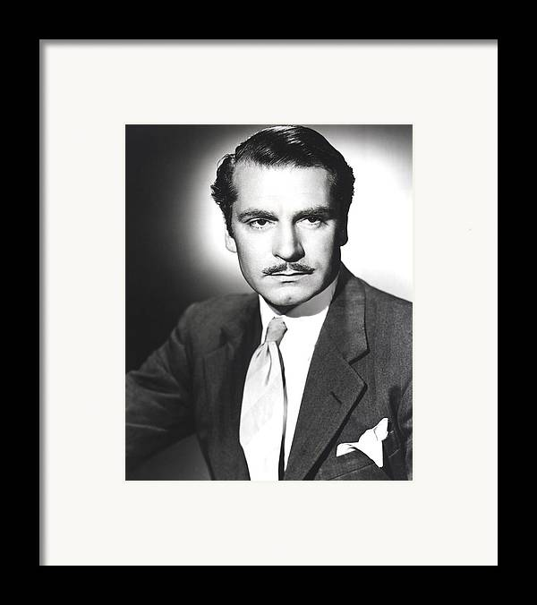 1940 Movies Framed Print featuring the photograph Rebecca, Laurence Olivier, 1940 by Everett