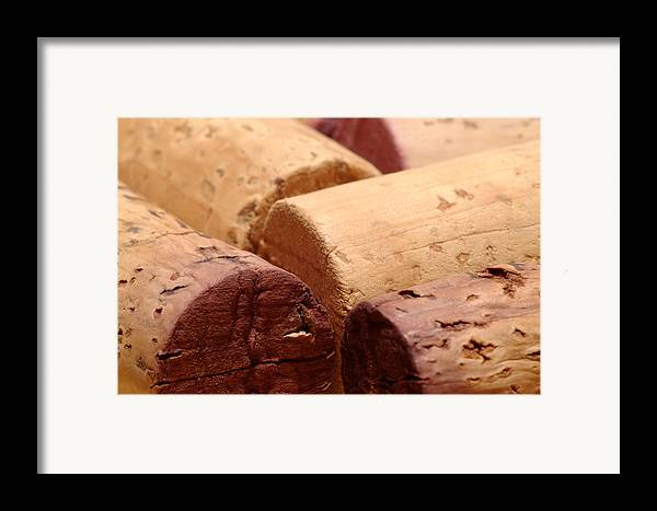 Wine Framed Print featuring the photograph Red Wine Corks by Frank Tschakert