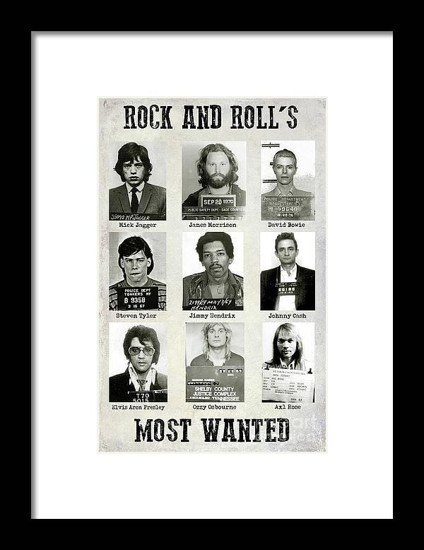 Rock And Rolls Most Wanted Framed Print featuring the photograph Rock and Rolls Most Wanted by Jon Neidert