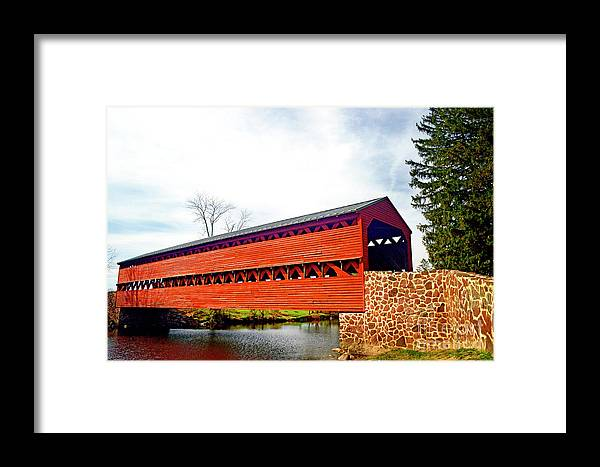 Sachs Framed Print featuring the photograph Sachs Bridge - Gettysburg by Paul W Faust - Impressions of Light