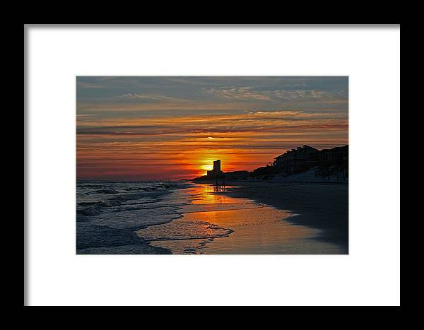Beach Framed Print featuring the photograph Seagrove Beach by David Campbell