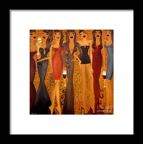 Women Artwork Framed Print featuring the painting Seven Sisters Of Pleiades by Helen Gerro