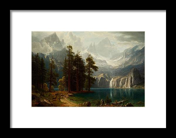 Sierra Nevada Framed Print featuring the painting Sierra Nevada by MotionAge Designs