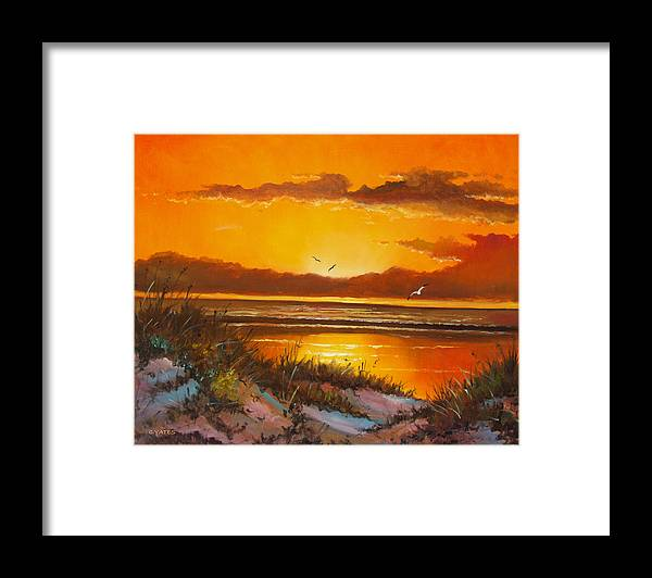 Florida Framed Print featuring the painting Siesta Sunset by Charles Yates