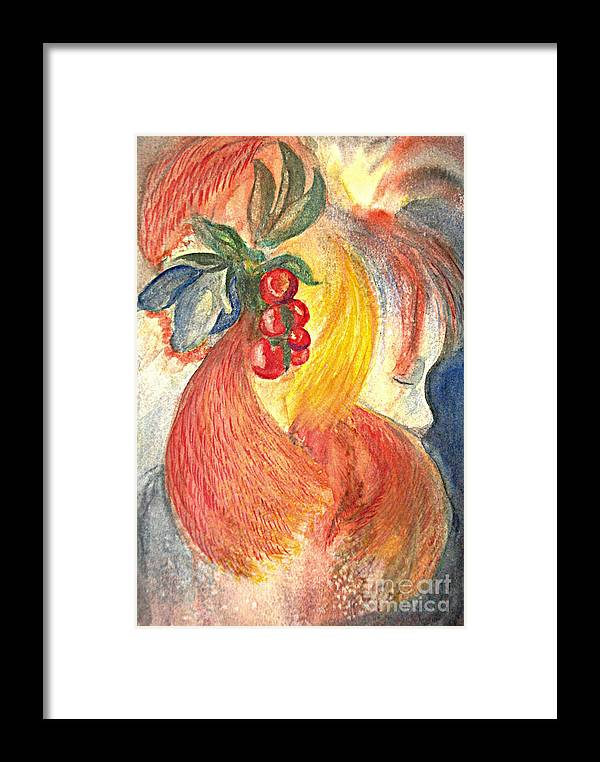 People Framed Print featuring the painting Simply Red by Vivian Mosley