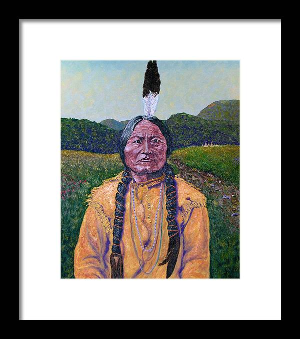 Sitting Bull Framed Print featuring the painting Sitting Bull by Stan Hamilton