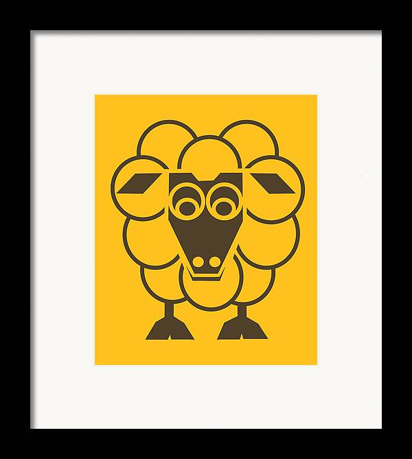 Sheep Framed Print featuring the painting Sleep-sheep - Lonvig By Minymo by Asbjorn Lonvig