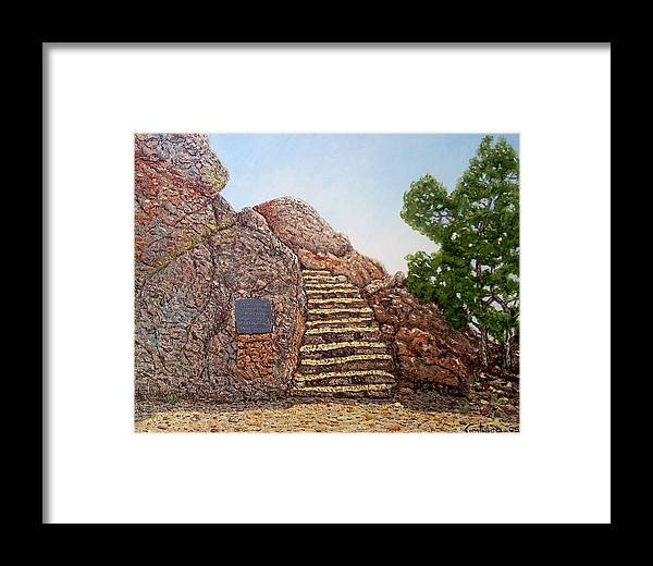 Impressionism Framed Print featuring the painting Stairway To Heaven by Santiago Chavez