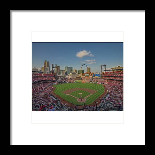 Prints Framed Print featuring the photograph #stlouiscardinals #cardinals by David Haskett II