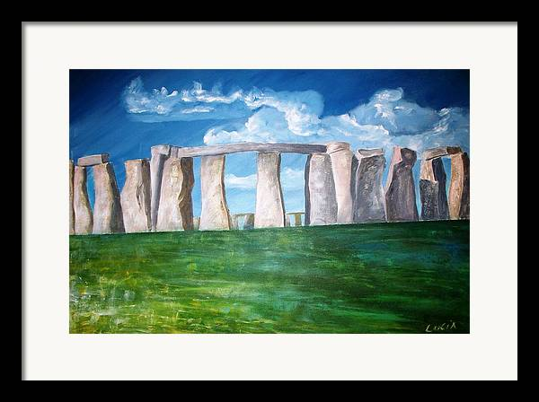 Stonehenge. Uk. Britain. Framed Print featuring the print Stonehenge by Carl Lucia