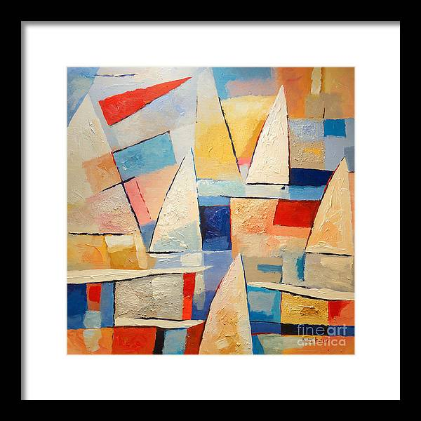Summertime Framed Print featuring the painting Summertime by Lutz Baar
