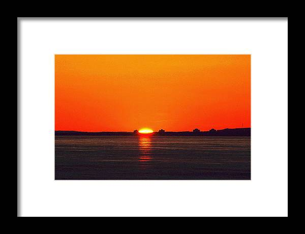 Abstract Framed Print featuring the digital art Sun Crown Two by Lyle Crump