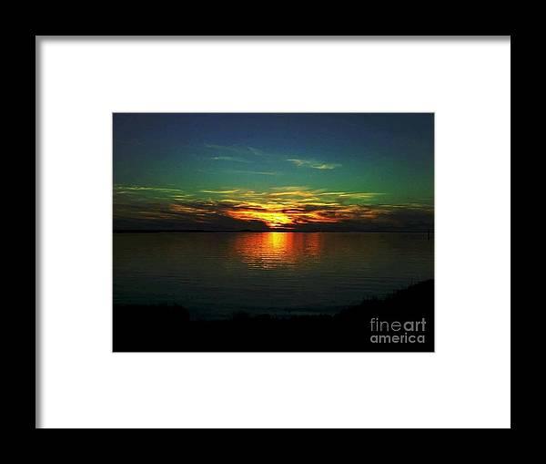 Sunset Framed Print featuring the digital art Sunset by Dawn Johansen