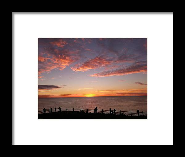 Sunset Framed Print featuring the photograph Sunset by Hitomi Y
