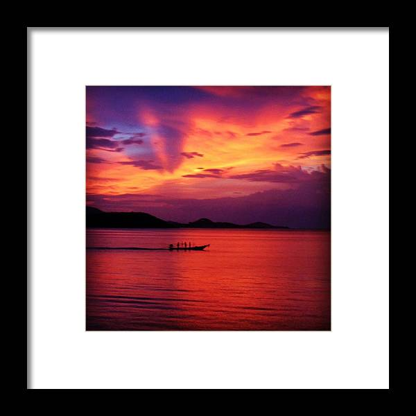 Sunset Framed Print featuring the photograph Sunset by Luisa Azzolini
