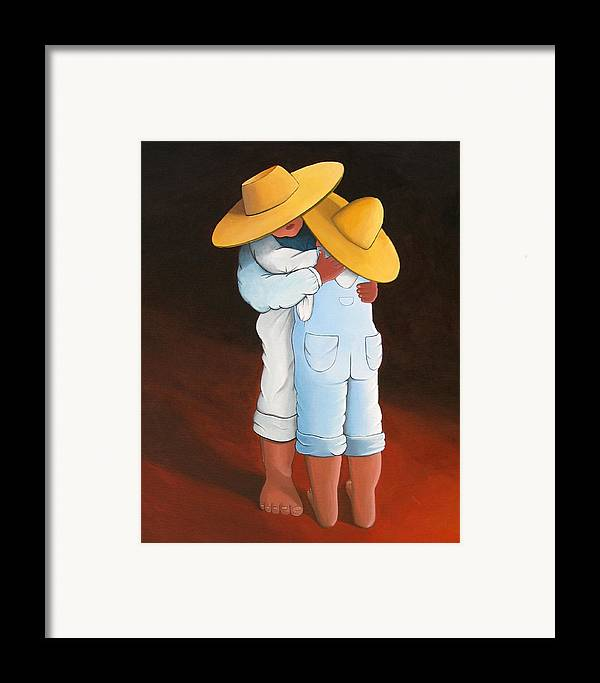 Spanish Style Framed Print featuring the painting Sweet Embrace by Lance Headlee