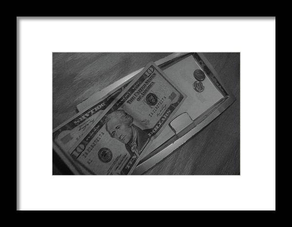 Black And White Print Framed Print featuring the photograph 2 Tens 1 Dime 1 Penny 2011 by WaLdEmAr BoRrErO