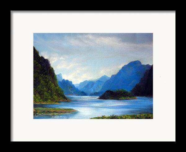 Pastel Framed Print featuring the painting Thai Landscape by Chonkhet Phanwichien