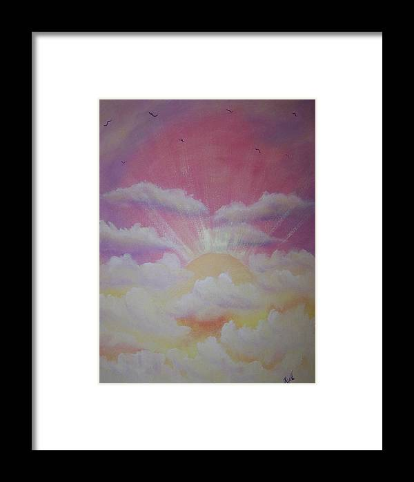 Bird Framed Print featuring the painting The Ascension by Laurie Kidd
