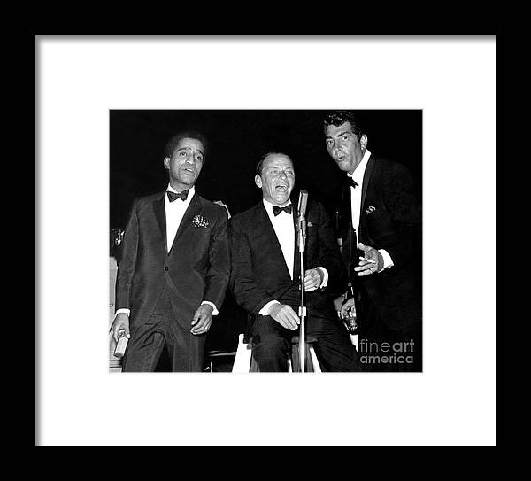 The Cast Of Oceans 11 And Members Of The Rat Pack Framed Print By