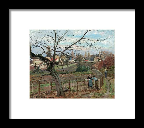 Artist Framed Print featuring the painting The Fence by Camille Pissarro