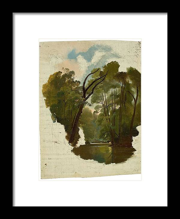 The Forest Framed Print featuring the painting The Forest by MotionAge Designs