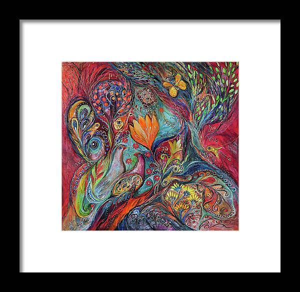 Original Framed Print featuring the painting The Magic Garden by Elena Kotliarker