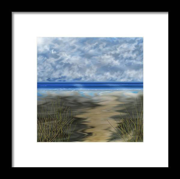 Anne Norskog Framed Print featuring the painting The Road Less Travelled by Anne Norskog
