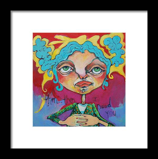 Painting Framed Print featuring the painting Then Then by Michelle Spiziri