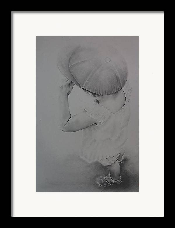 Children Framed Print featuring the drawing This Way by John C