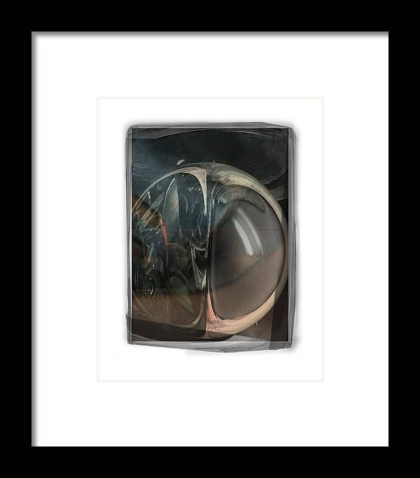 Abstract Framed Print featuring the digital art Too Old To Serve by Nuff