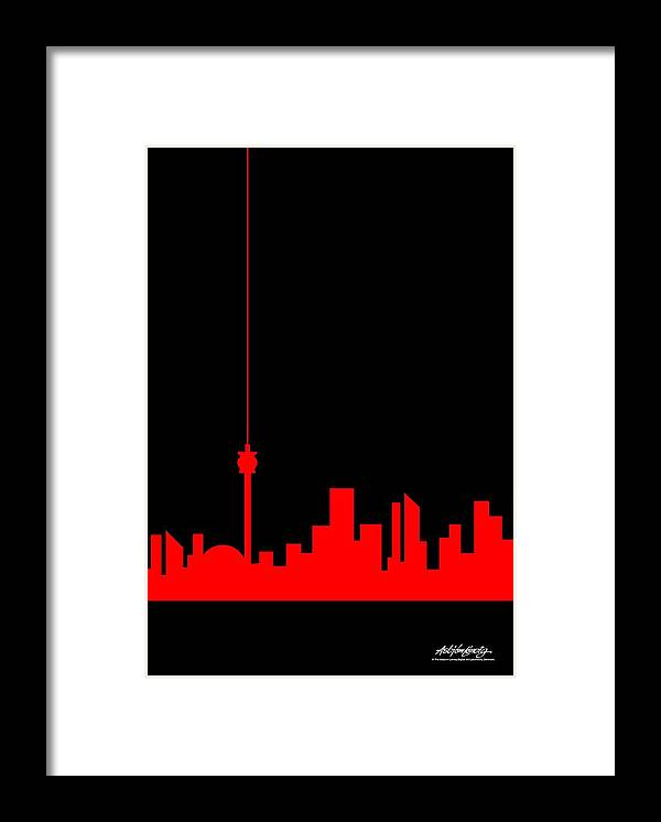 Framed Print featuring the painting Toronto Skyline by Asbjorn Lonvig