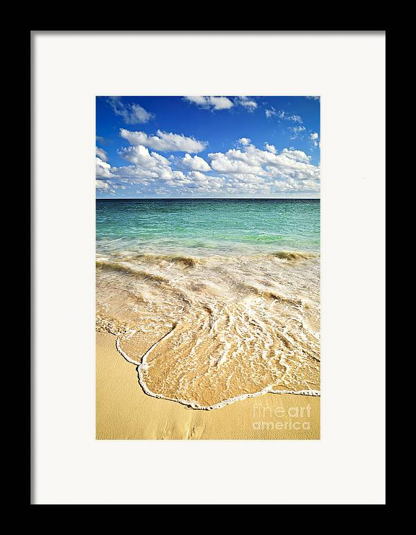 Beach Framed Print featuring the photograph Tropical Beach by Elena Elisseeva