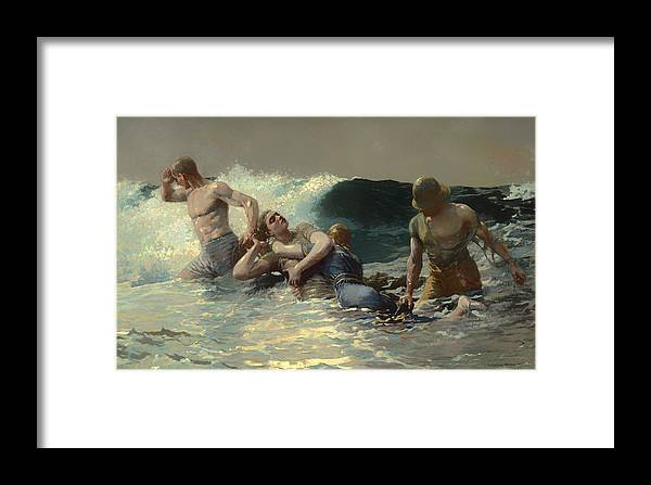 Painting Framed Print featuring the painting Undertow by Mountain Dreams